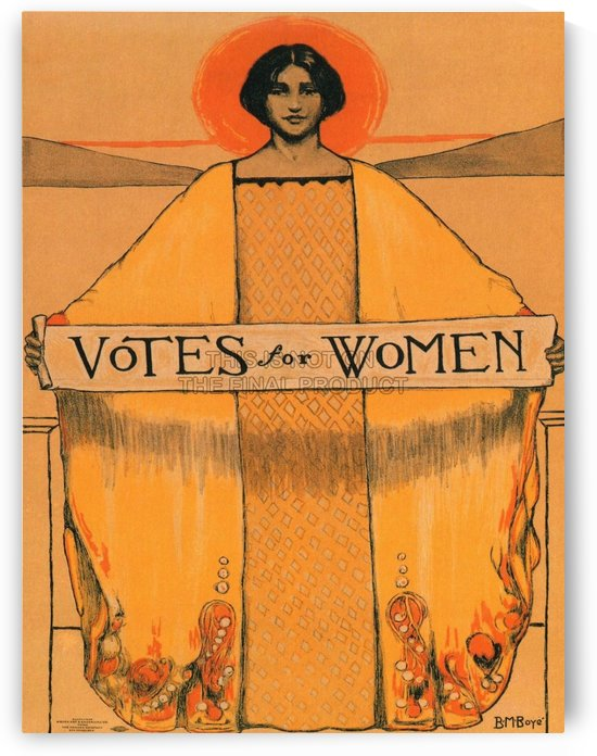 Votes for women by VINTAGE POSTER