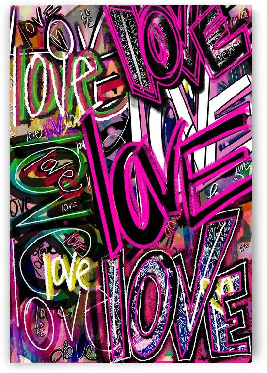 DIGITAL ILLUSTRATION - Graffiti Love by Lisa Shavelson