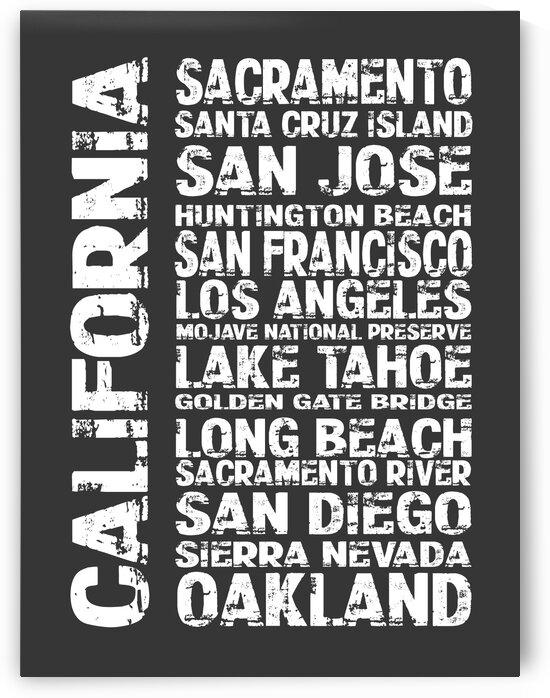 CALIFORNIA Country Subway Art N2105 by Edit Voros
