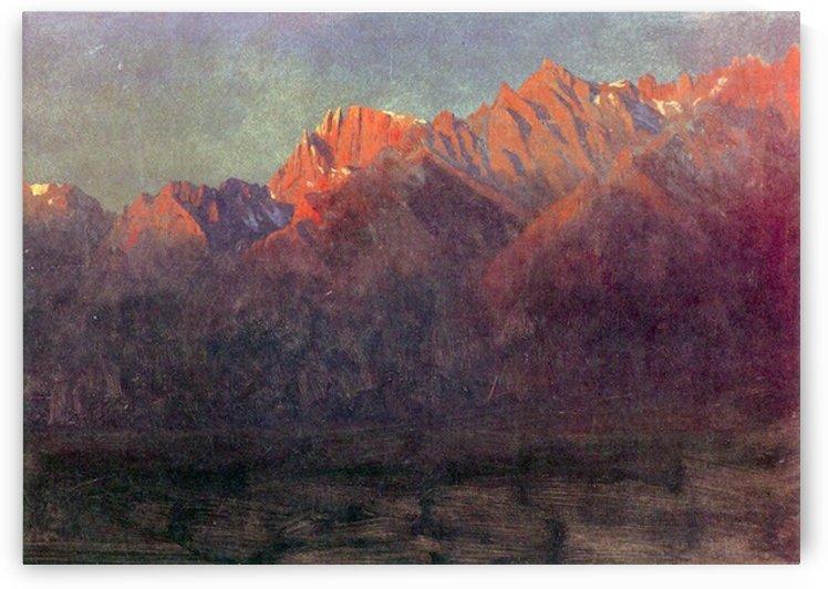 Sunrise in the Sierras by Bierstadt by Bierstadt