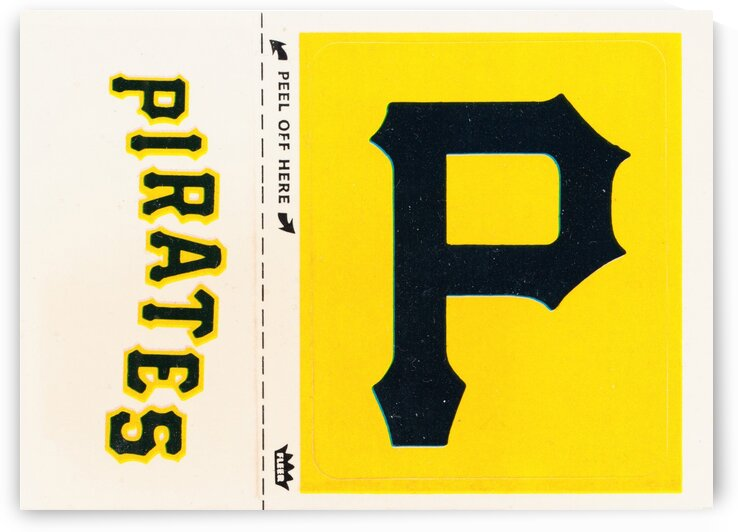 1981 Pittsburgh Pirates Fleer Decal Poster by Row One Brand