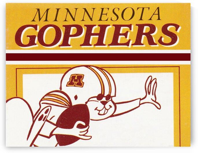 1988 Minnesota Gophers Football Art by Row One Brand