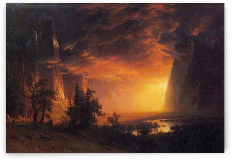 Sunrise in Yosemite Valley by Bierstadt by Bierstadt