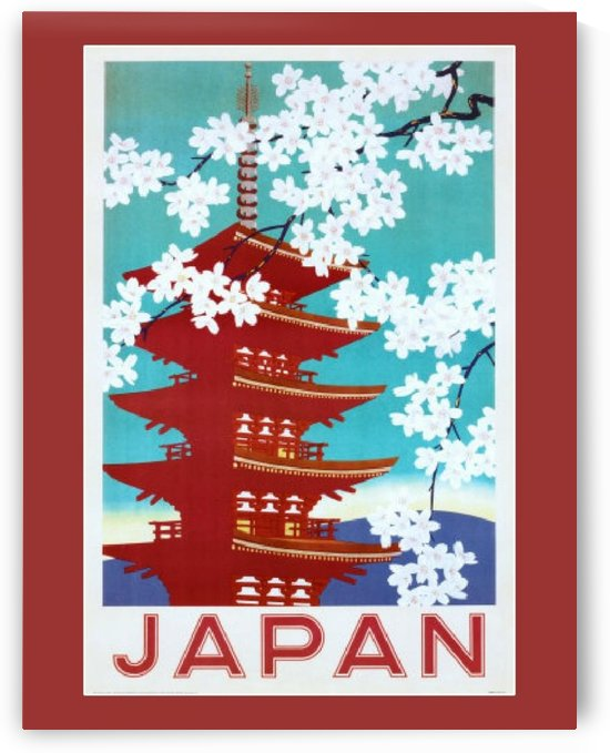 Japan Flowers by VINTAGE POSTER