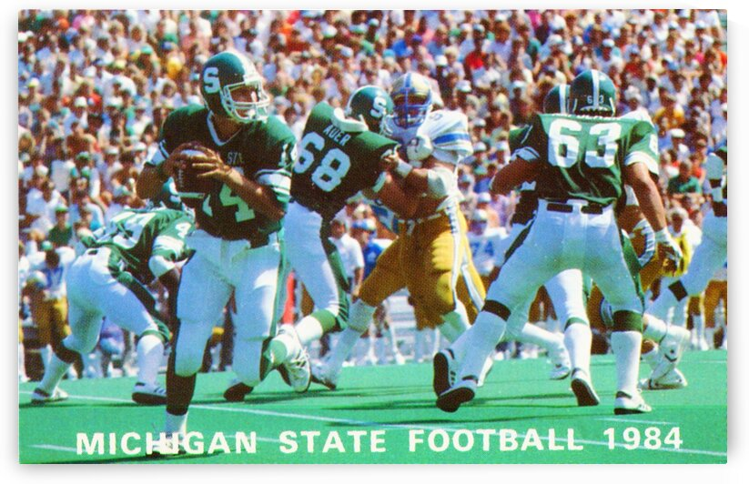 1984 Michigan State Football Poster by Row One Brand