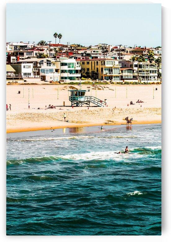 Summer sandy beach at Manhattan beach California USA by TimmyLA