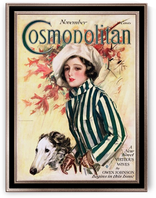 Cosmopolitan Front Cover November 1917 by Harrison Fisher Old Masters Classical Art Reproduction by xzendor7