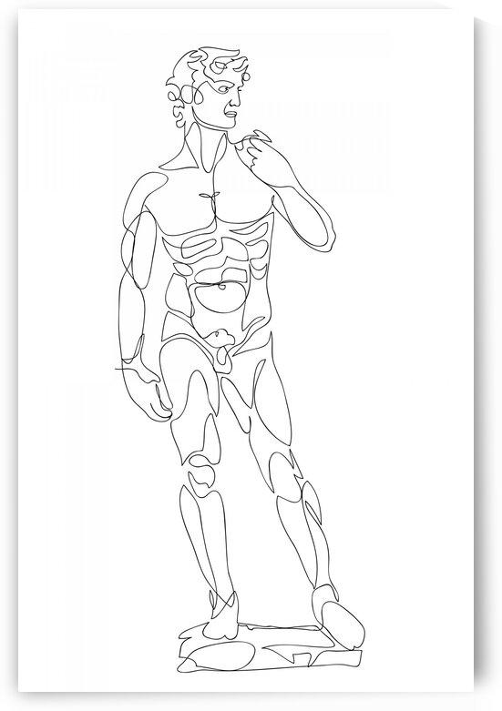 David continuous line art by Aquamarine