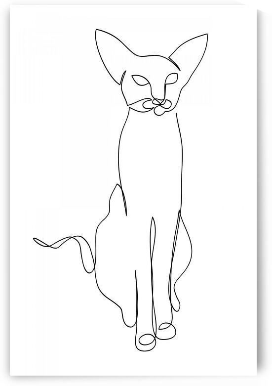 Cat continuous line art V by Aquamarine