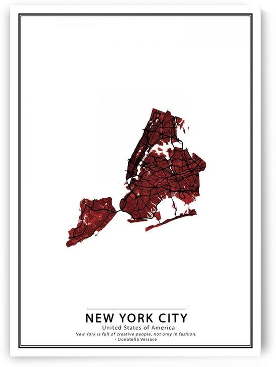 Crimson Cities *New York City* by Phantasmagorius