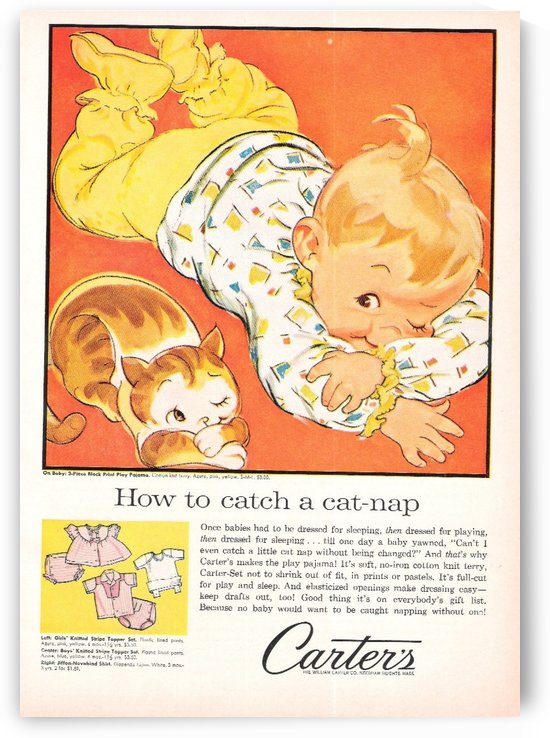 How to catch a cat nap by VINTAGE POSTER