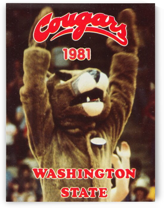 1981 Washington State Cougars Poster by Row One Brand