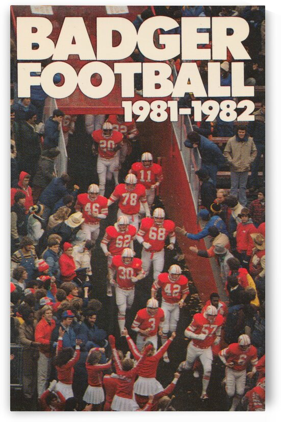 1981 Wisconsin Badgers Football Poster by Row One Brand