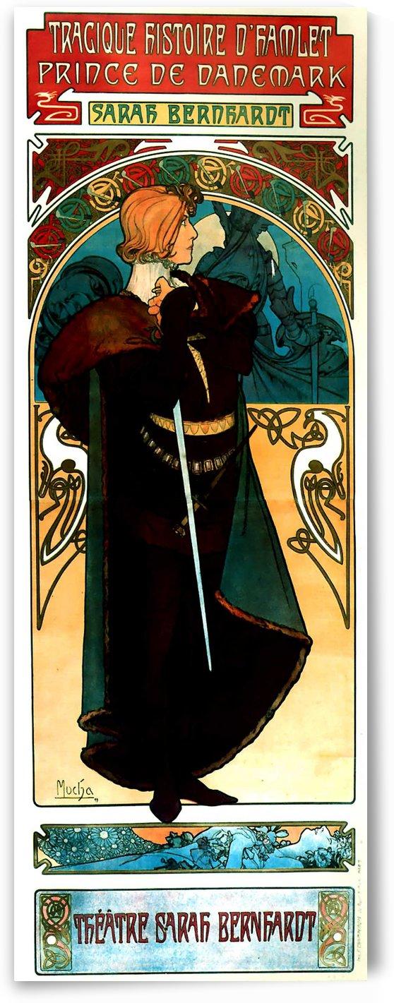Sarah Bernhardt Hamlet by VINTAGE POSTER