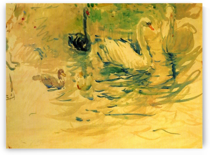 Swans by Morisot by Morisot