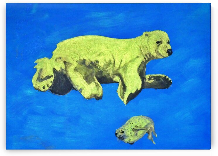 ours a la chasse vert by Dominic
