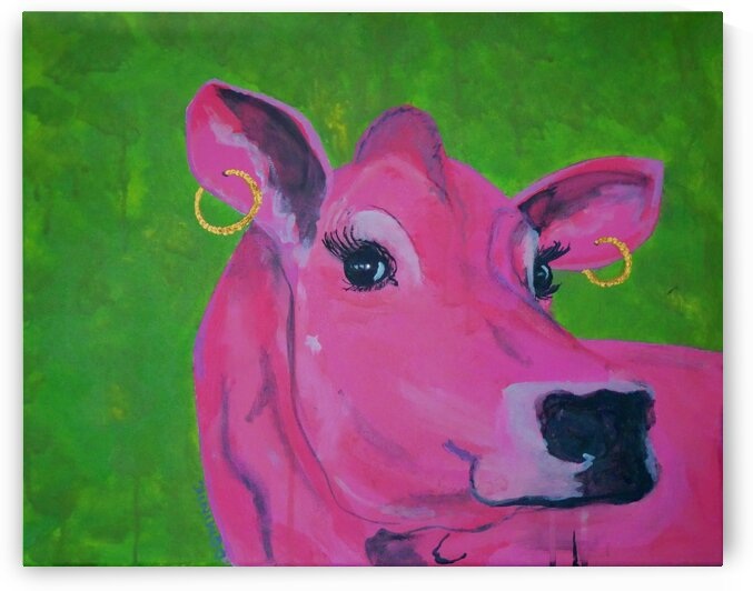 vache rose by Dominic