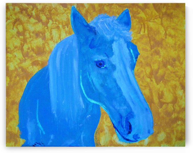 cheval bleu by Dominic