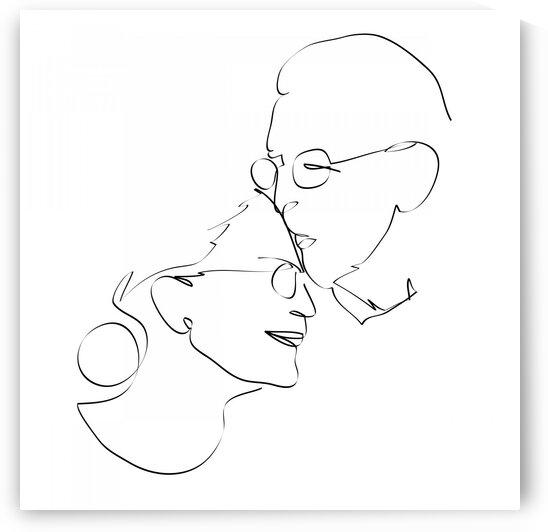 Double portrait of elderly couple by Aquamarine