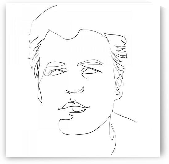 Male portrait II by Aquamarine