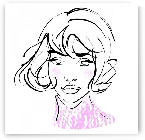 Girls portrait III by Aquamarine