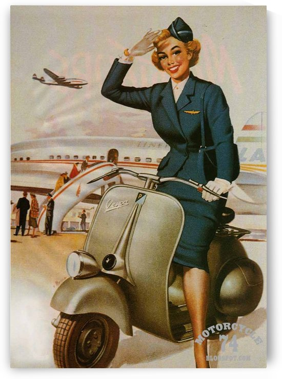 Vespa Pin Up Girl by VINTAGE POSTER