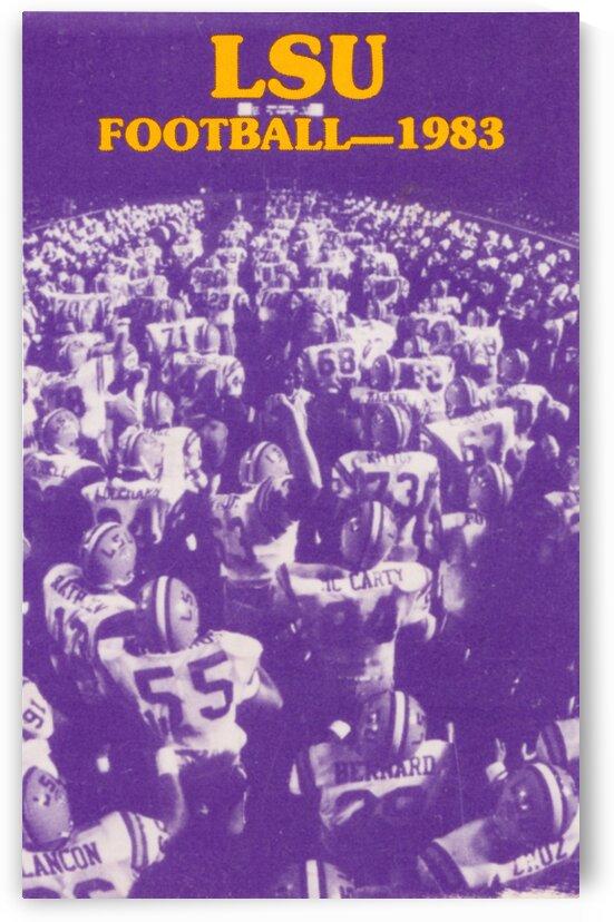 1983 LSU Tigers Football Art by Row One Brand