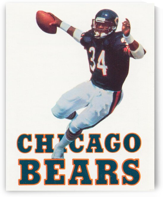 1985 Chicago Bears Football Walter Payton Poster by Row One Brand