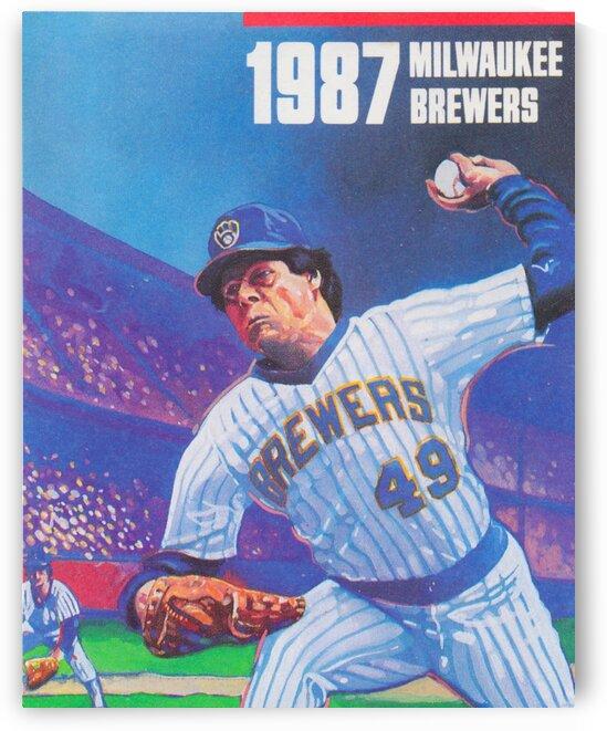 1987 Milwaukee Brewers Retro Baseball Art by Row One Brand