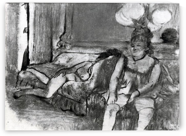 Taking a rest by Degas by Degas