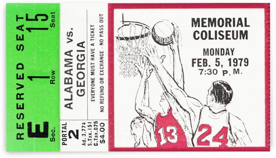 1979 Alabama vs. Georgia Basketball Ticket Art by Row One Brand