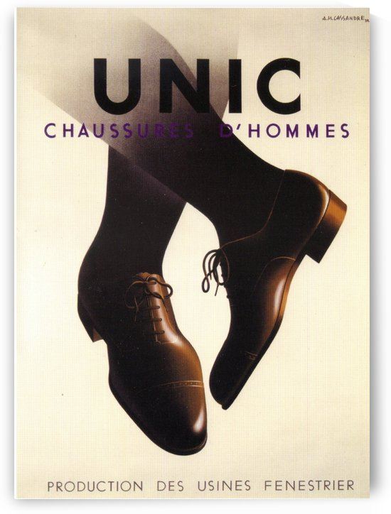 Unic Chaussures by VINTAGE POSTER