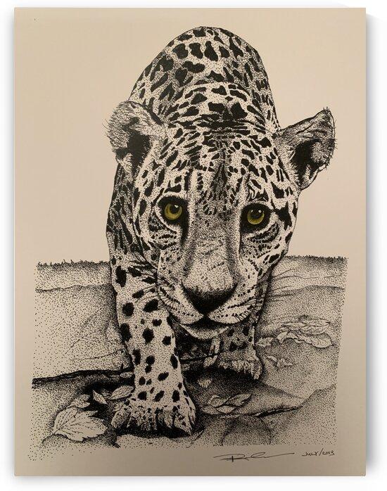 Jaguar pointillism by Patricia Kieneker