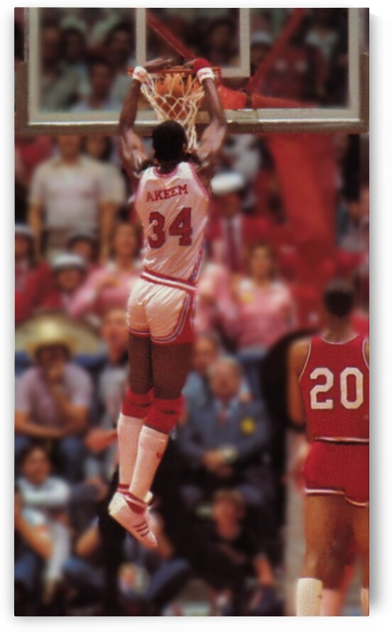 1983 Hakeem Olajuwon Houston Cougars Poster by Row One Brand