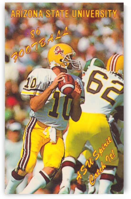 1986 Arizona State Football Poster by Row One Brand