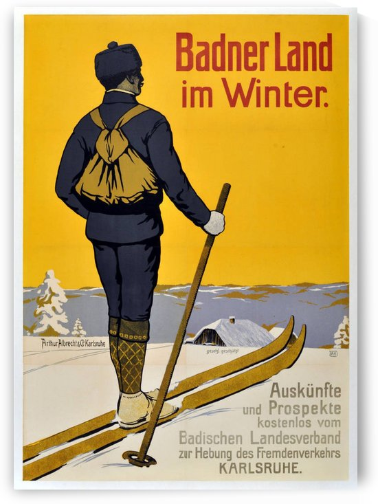 Badner Land in Winter by VINTAGE POSTER