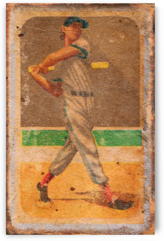 Vintage Baseball Art by Row One by Row One Brand