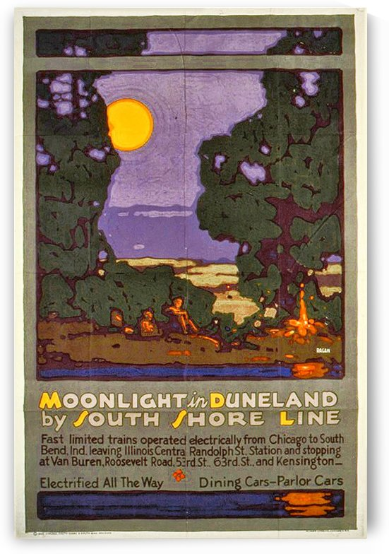Moonlight by VINTAGE POSTER