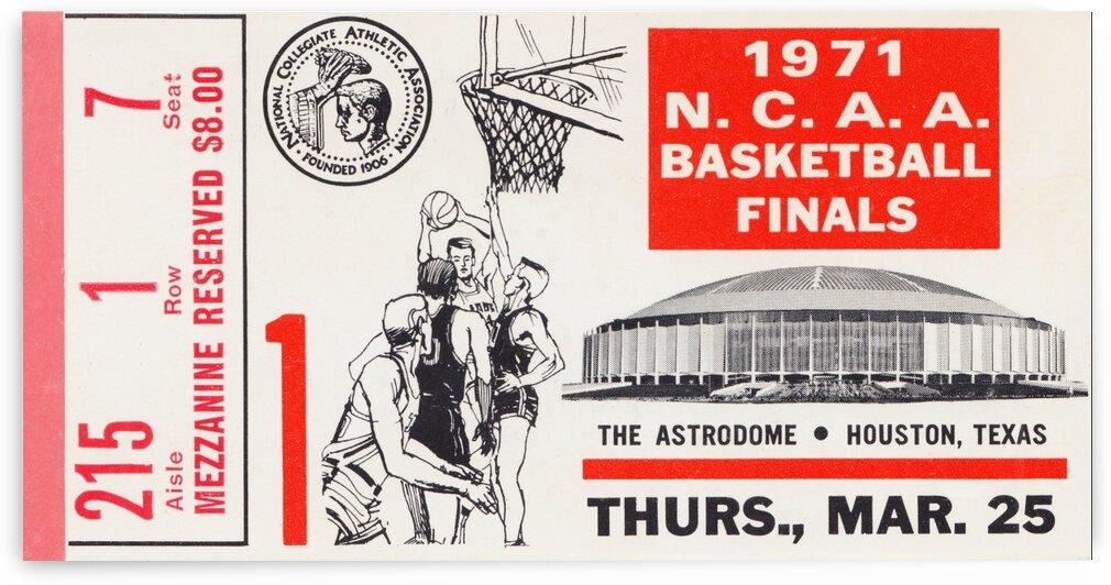 1971 NCAA Basketball Ticket Stub Wall Art UCLA vs. Villanova by Row One Brand