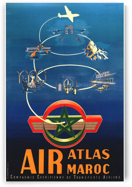 Air Atlas Maroc by VINTAGE POSTER