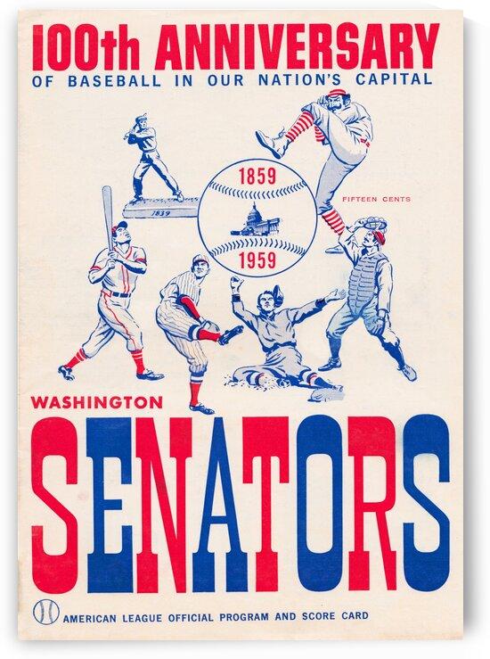 1959 Washington Senators Score Card Wall Art by Row One Brand