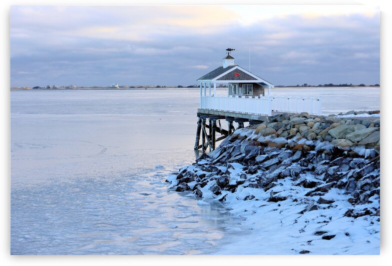 Icy harbor at low tide by Photography by Janice Drew