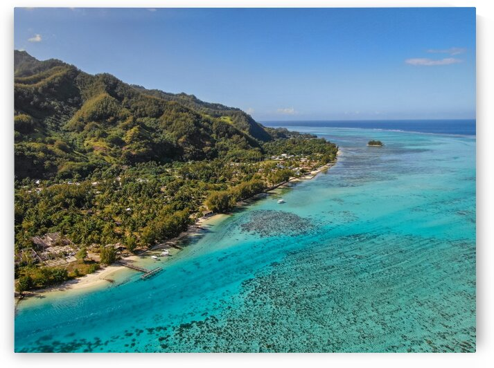 Moorea from above 1 by Samantha Hemery