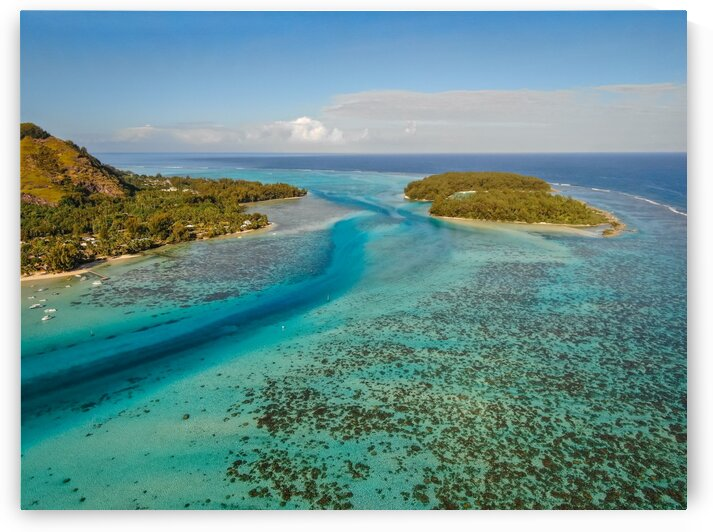 Moorea from above 3 by Samantha Hemery
