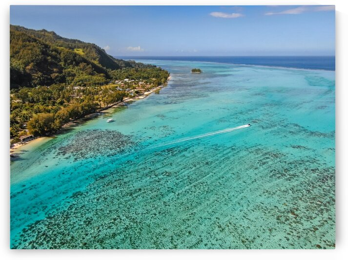 Moorea from above 2 by Samantha Hemery