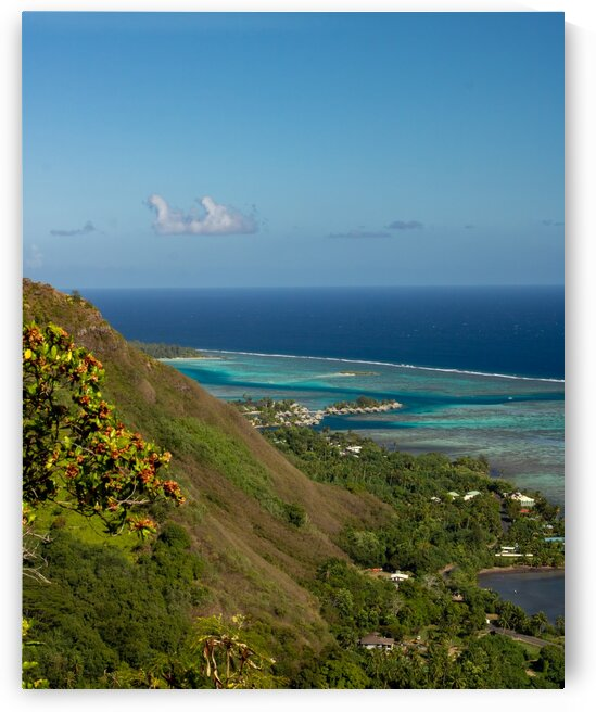 Moorea - view from Magic Mountain by Samantha Hemery