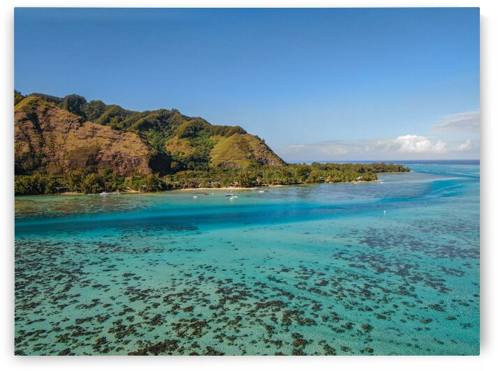 Moorea from above 4 by Samantha Hemery