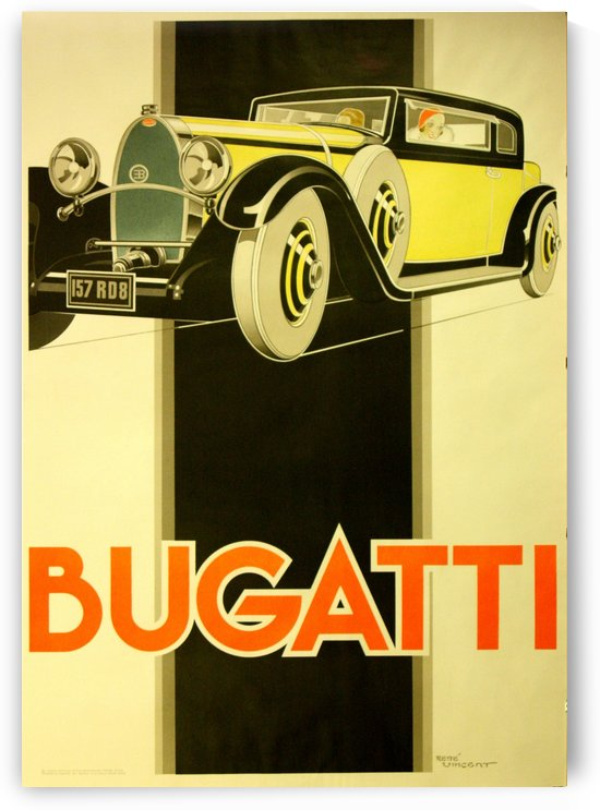 Bugatti Poster by VINTAGE POSTER