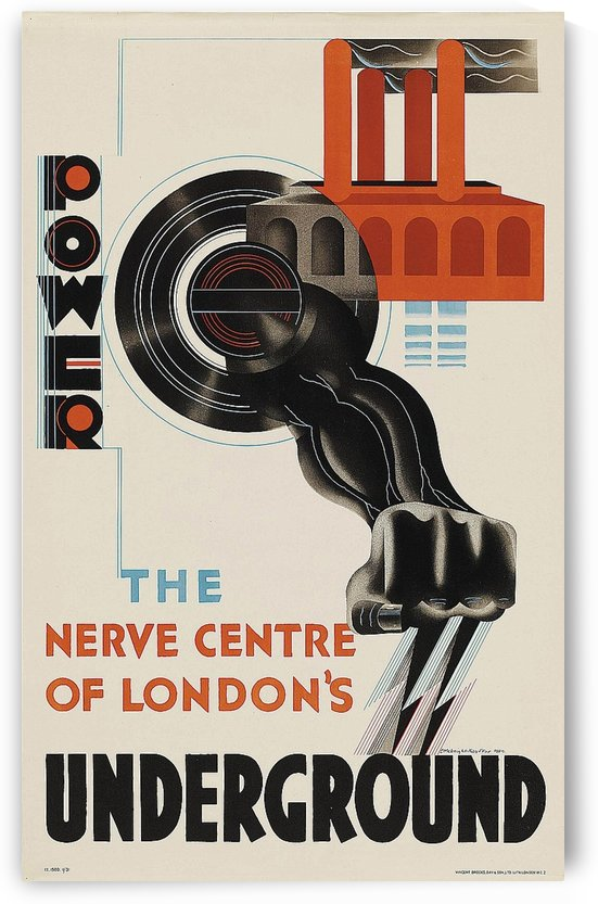 The Nerve Centre of London by VINTAGE POSTER