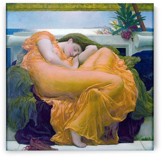 Frederic Lord Leighton: Flaming June - HD 300ppi by Stock Photography